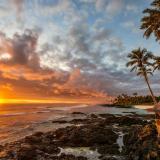 Sunset over Samoa